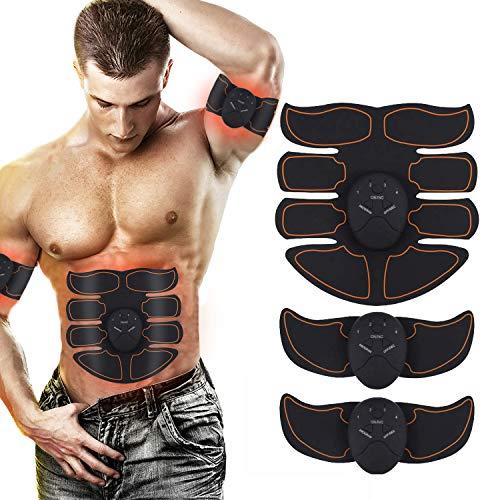 Nitoer EMS Trainingsgerät, Muskelstimulation,Bauchmuskeltrainer Elektrisch,Trainingsgeräte für zuhause,Elektrostimulation Muskeltrainer Bauchtrainer Massagegerät und Fettverbrennungn (002)
