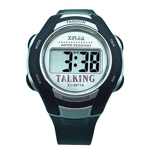Arabisch-Sprechende Armbanduhr, digital, mit Alarmfunktion, Uhrzeitanzeige, für Menschen mit Sehbehinderung geeignet
