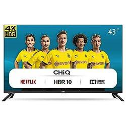CHiQ U43H7L UHD 4K Smart TV, 43 Zoll(108cm), HDR10/hlg, WiFi, Bluetooth, Prime Video, Netflix 5,1, Youtube Kids,3 HDMI,2 USB,Frameless,