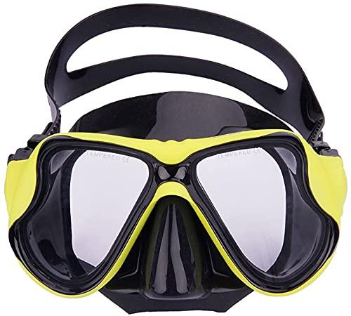 Gafas de Buceo de Vidrio de Cristal Templado Anti-Impacto Unisex Anti-Niebla Gafas de Buceo de Buceo Ajuste rápido Adulto Equipo de Snorkeling para Adultos Gafas de natación para niños para Hombres