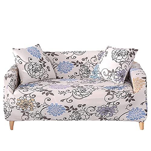 ASCV Funda de sofá elástica para Sala de Estar Funda de sillón de Licra Funda de sofá mágica A8 4 plazas