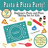 Kid's Cooking - Pasta & Pizza Party! - Beginner's Pasta & Pizza Making Gift Set for Children w/Easy...