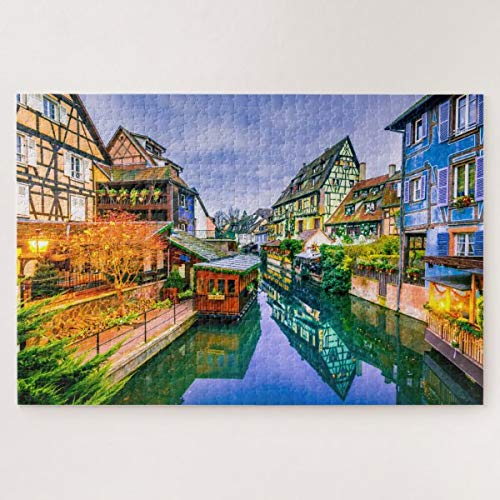CICIDI Puzzle Colmar France 1000 Pieces for Adults Or Children, Entertainment DIY Toys for Creative Gift Home Decor