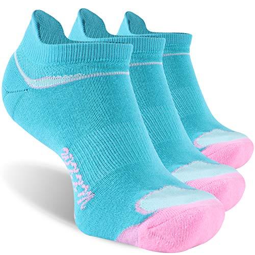 No Show Socks,WXXM Women Men Low Cut Socks Hidden Comfort Running No Show Socks Breathable Quick Dry Socks for Hiking Jogging Walking 3 Pairs Blue,Small