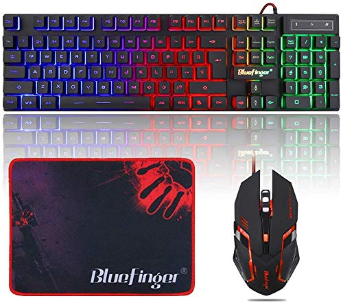 QWERT Backlit Gaming Keyboard and Mouse Combination
