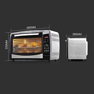 ZJJL Mini horno doméstico de 30 litros con ajuste de temperatura 0-250 ° C y 0-90 Tiempo mínimo 1500 W Horno multifunción con puerta de vidrio de tres capas