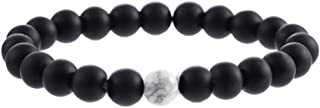 Niome Couples His Hers Distance 8mm Beads Elastic Bracelet Natural Stones Jewelry