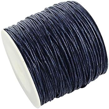 La attrape-rêve 5 metros de cordón negro (algodón encerado, grosor ...