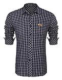 [page_title]-Burlady herren hemd kariert Slim Fit Langarm Freizeithemd Flanellhemd