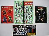 Ninjago 4 Bogen Aufkleber Sticker Set Ninja Ninja Kai Jay Lloyd Cole Garmadon Drachenmeister Dr. Wu...