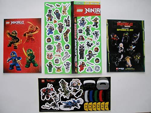 Ninjago 4 Bogen Aufkleber Sticker Set Ninja Ninja Kai Jay Lloyd Cole Garmadon Drachenmeister Dr. Wu Movie Kindergeburtstag Party Bunt Dekoration Zum sammeln und Spielen