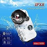 BECEMURU Custodia subacquea impermeabile Bluetooth per iPhone 60m/195ft Custodia subacquea...