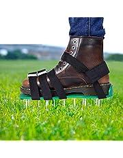 EEIEER Gazonbeluchter Schoenen Gazonbeluchter Sandalen voor je Gazon of erf Gazonbeluchter Gazonventilator Schoenen One Size Fits All (5 Riemen, Groen)