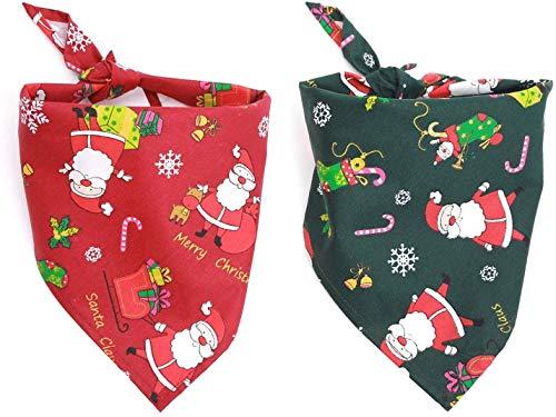 Sinrextraonryt Dreieck-Lätzchen, für Hunde, Katzen, Weihnachten, Weihnachtsmann, Halstuch, Halstuch, Halstuch, Fliege, Haustierkostüm, Zubehör