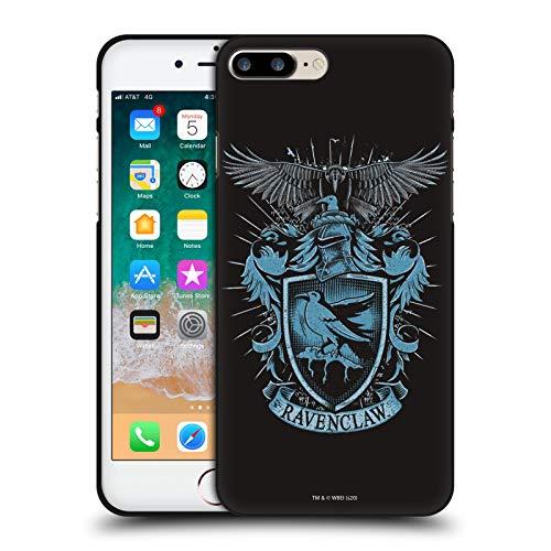 Head Case Designs Oficial Harry Potter Ravenclaw Reliquias de la Muerte XIV Funda de Gel Negro Compatible con Apple iPhone 7 Plus/iPhone 8 Plus