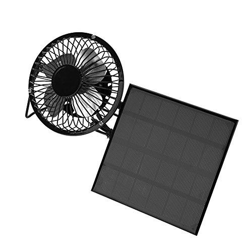 Duokon Mini Ventilador, 3W 6V Panel Solar al Aire Libre Mini Ventilador portátil Kit de enfriamiento USB Accesorio