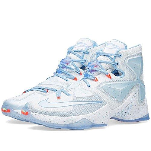 Nike Lebron XIII Xmas, Scarpe da Basket Uomo, Multicolore (Blanco/Azul (Summit White/Blue Tint-Lght Bl), 40