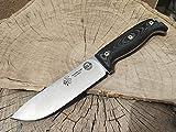 CDS-Survival Cuchillo BS9 para bushcraft Supervivencia Campo Monte Caza y Pesca, Hoja de 13,5 cm,...