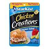 DELICIOUS FLAVOR: We get it: everyone has their own favorite chicken salad recipe, but StarKist Chicken Creations Chicken Salad pouches include savory dill relish, crisp celery, red peppers and a unique ingredient—convenience. GOOD SOURCE OF LEAN PRO...