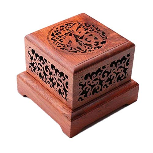Sale!! Burner incense burner Incense Burner Red Rosewood Incense Burner Solid Wood Hollow Plate Arom...