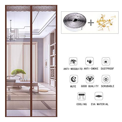 Magnetische hor deur insect scherm te isoleren Kitchen Fumes, Anti-mug en stofdicht Household partities,Transparent,90×200cm