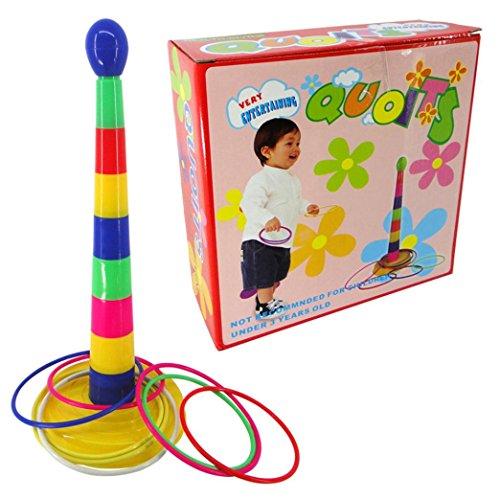Bestpriceam Set of Plastic Ring Toss Quoit Hoopla Family Indoor/Outdoor/Garden Game Toy