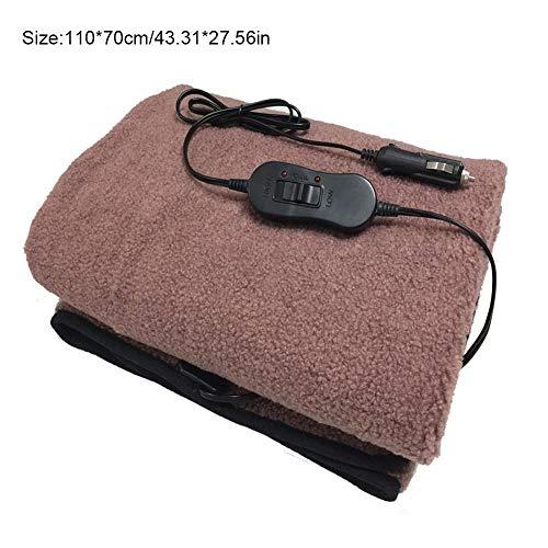 Seasaleshop verwarmingsdeken, verwarmingsdeken, elektrische deken, 12 V, fleecedeken, voor de auto-vrachtwagen, RV, het koude weer rijst, 145 100 cm