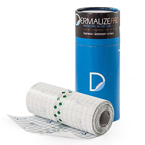 Dermalize Pro Tattoo Bandage in 6 Zoll x 10.9 Yard / 10 Meter Rolle klar Klebstoff antibakteriell