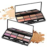 Delighted 8 Colors Shimmer Eyeshadow Palette Mini Glitter Highlighters Palette Smoky Eye Shadow Palette - 01