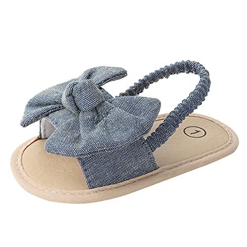 YWLINK NiñOs Antideslizantes De Fondo Suave Resistentes Al Desgaste De Color SóLido Bowknot Zapatos Para NiñOs PequeñOs Zapatos De Playa Sandalias Zapatos Romanos Regalo Del DíA Del NiñO