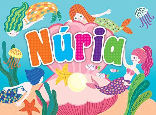 Puzles y Rompecabezas Personalizados con Nombres para Niños y Niñas. Puzle con Dinosaurios o Sirenas y Nombres. Miden 28,5 x 21 cm (Nuria)