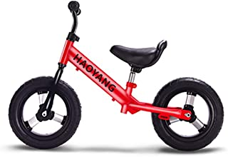 Bicicletas sin pedales Equilibrar Bicicleta Ligero Niños Niños Niñas Correr Seguridad Primero en Bicicleta - Aprendizaje Entrenamiento Bicicleta (Color : Rojo)