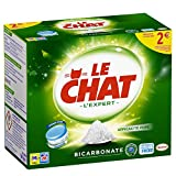 Le Chat l'Expert – Lessive en Tablettes au Bicarbonate – 28 Lavages (56 Tablettes)