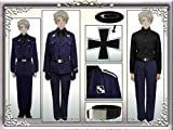 BELUNOT Anime APH Axis Powers Hetalia Prussia Military Uniform Full Set Cosplay Halloween Party Costume Customized Size M Female Size