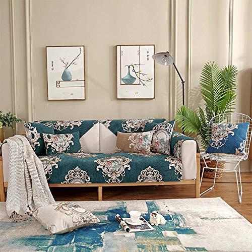 funda sofa elastica 3 plazas,Protector de sofá de primavera y verano,toalla de cojín de sofá leater,cubierta de sofá de tela de sala de estar moderna,protector de sofá Chenille-Dark_green_70 * 90cm