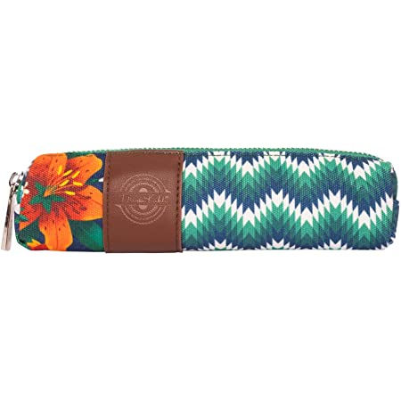 Erik® - Astuccio scuola Frida Kahlo Flowers Collection, idee regalo originale, 20x4x3,5 cm