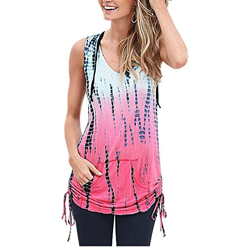 Shirt Donna Bluse Donna Lunga Slim Maniche Lunghe Allacciata Scollo A V Estate Autunno Nuova Moda Casual Gradiente Casual Tascabile Pullover Sexy Slim all-Match Top C-Pink S