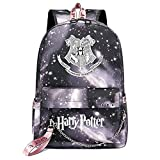 Mochila de Ocio para Estudiantes de Hogwarts, Mochila Harry Potter Grey Starry Sky, con Mochila de Interfaz de Carga USB Style-6