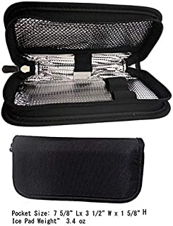 CHILLPACKS Diabetic Insulin Pen/Medication Cooler Case,for 2's or Larger Pen - w/2x Ice Packs (Black)