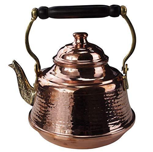 Tetera de cobre (2,5 L, con interior estañado)