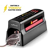 AbcoSport Electronic Rodent Zapper - Effective & Humane Mouse Trap That Works for Rats, Mice – No Poison Use - 7000v Shock Instant Exterminator – Safe, Mess-Free & Non-Toxic