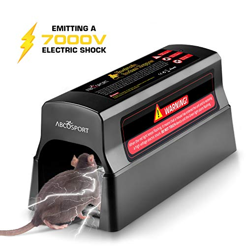 AbcoSport Electronic Rodent Zapper - Effective & Humane Mouse Trap That Works for Rats, Mice – No...