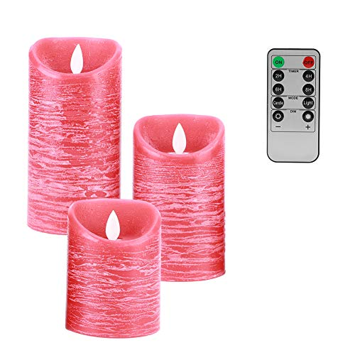 Vcriczk LED Light, with Remote Control 3Pcs Safe Candle Light, Study Room Home