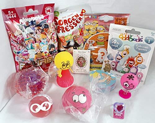 110103 12 Mitgebsel Geschenke für Mädchen oder Füllung Adventskalender mit Blindbags Playmobil Minion Sorgenfresser Einhorn
