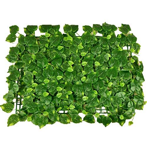 Szseven 40 x 60cm Sichtschutz Zaun Hochleistungs-künstliche Buchsbaumplatten Topiary Heckenpflanze für Garten Hinterhof Wand