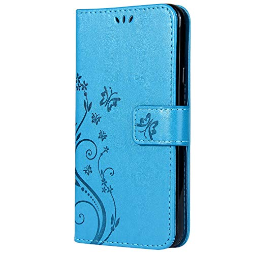 Vectady für Samsung Galaxy S4 Mini [NO für S4] Hülle, Handytasche Leder Case Handyhüllen Schutzhülle Flip Cover Tasche Magnet Klapphülle PU Ledertasche für Samsung Galaxy S4 Mini,Blau