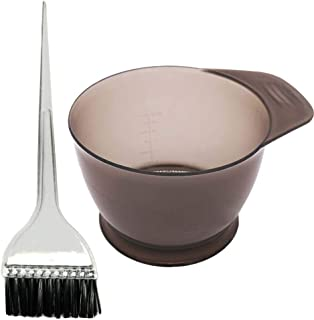 Healifty Salon Hair Coloring Dyeing Kit Hair Oil Treatments Tools with Tinting Bowl and Dye Brushes 2pcs