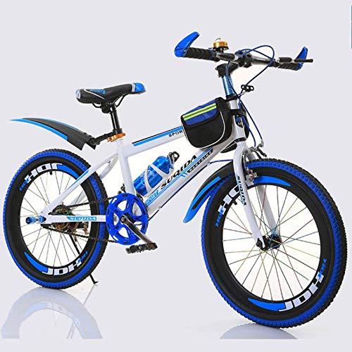 TWTD-TYK Kid's Bike,Children's Bike, Children's Bike,Children Pedal Bicycle Mountain Bike Girl's Boy's Bicycle Size 18 Inch (Color : Blue, Size : 18'')