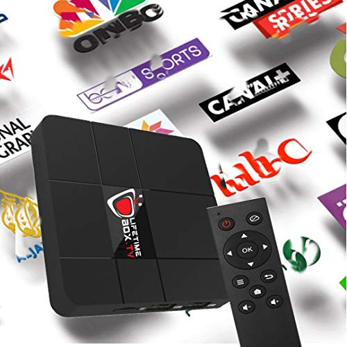 International IPTV Internet WiFi Receiver Box with Life-time Subscription for 5000+ Global Live Channels Include North American European Asian Arabic India