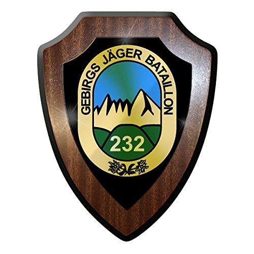Wappenschild - Gebirgsjäger Bataillon 232 GbJgBtl Bundeswehr BW #9010